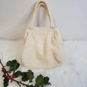 Vintage Beaded Hinged Mini Purse Bag NYE